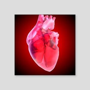 "Heart of glass, artwork Square Sticker 3"" x 3"""