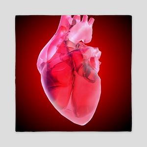 Heart of glass, artwork Queen Duvet