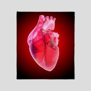 Heart of glass, artwork Throw Blanket