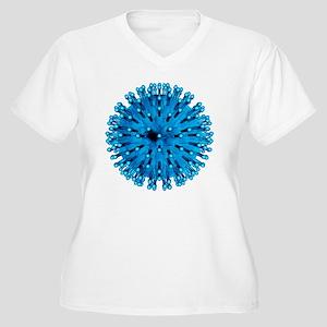 Herpes virus part Women's Plus Size V-Neck T-Shirt