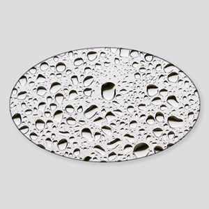 Raindrops on a window pane Sticker (Oval)