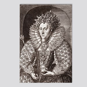 Queen Elizabeth I, Englis Postcards (Package of 8)