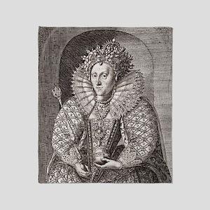 Queen Elizabeth I, English monarch Throw Blanket