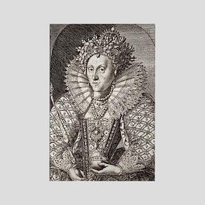 Queen Elizabeth I, English monarc Rectangle Magnet