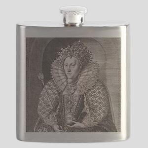 Queen Elizabeth I, English monarch Flask