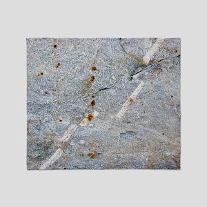 Quartz vein in granite Throw Blanket