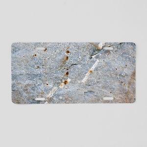 Quartz vein in granite Aluminum License Plate