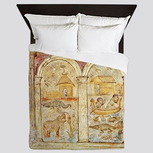 The Nile, 2nd century Roman carving Queen Duvet