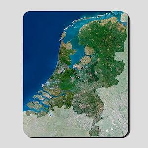 The Netherlands, satellite image Mousepad