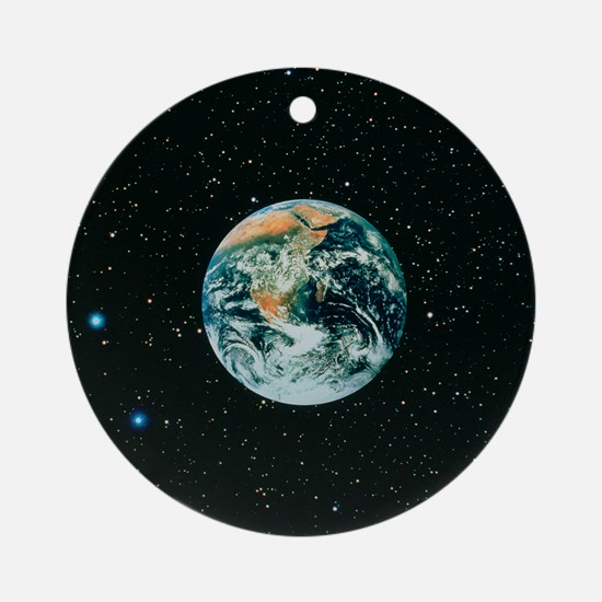 The earth seen from Apollo 17 Round Ornament