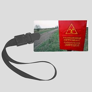Radiation warning sign, Belarus Large Luggage Tag