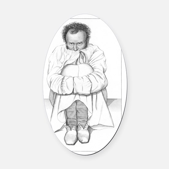 Psychiatric patient, 19th century Oval Car Magnet