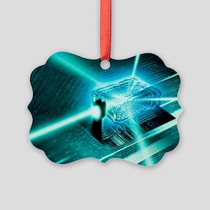 Quantum computer core Picture Ornament