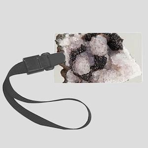 Pyrolusite in quartz Large Luggage Tag