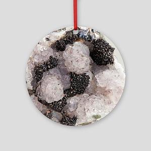 Pyrolusite in quartz Round Ornament