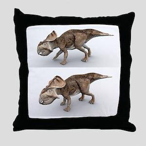 Protoceratops dinosaurs, artwork Throw Pillow