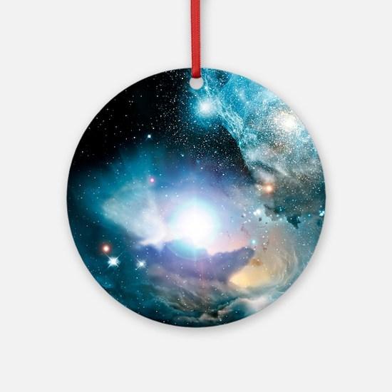 Primordial quasar, artwork Round Ornament