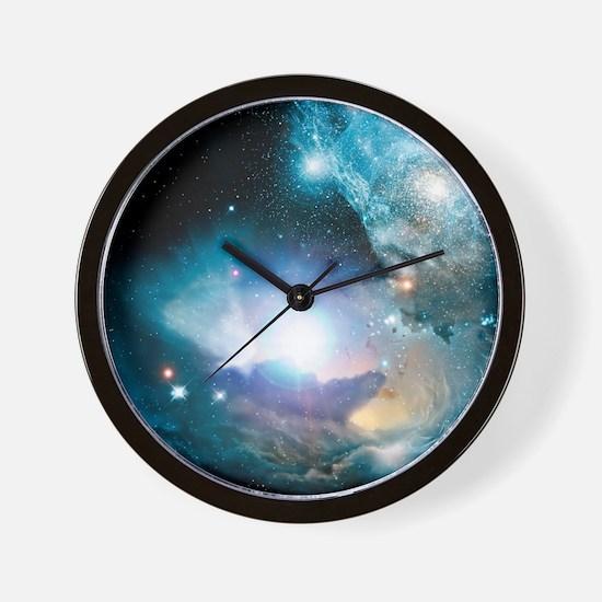 Primordial quasar, artwork Wall Clock