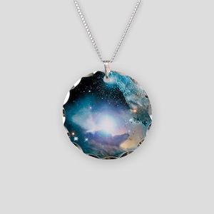 Primordial quasar, artwork Necklace Circle Charm