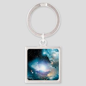 Primordial quasar, artwork Square Keychain