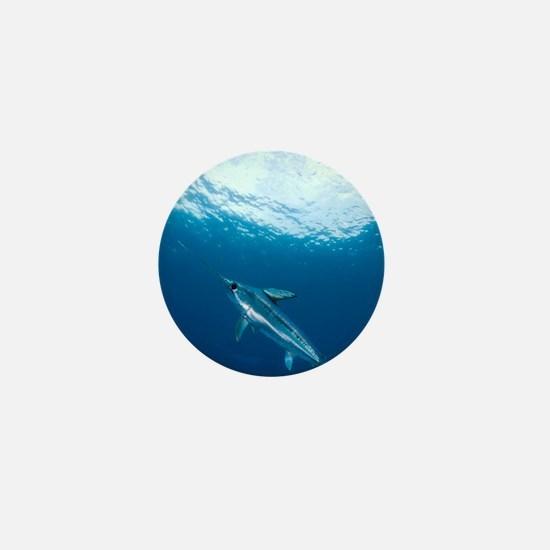 Swordfish swimming Mini Button