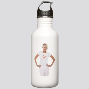 Happy senior woman Stainless Water Bottle 1.0L