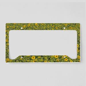 Sunflowers License Plate Holder