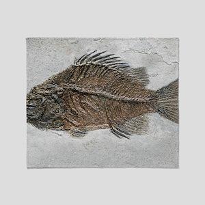 Prehistoric perch fossil Throw Blanket