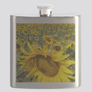 Sunflowers Flask