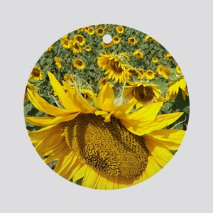 Sunflowers Round Ornament