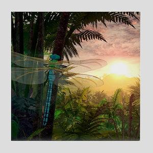 Prehistoric dragonfly, artwork Tile Coaster