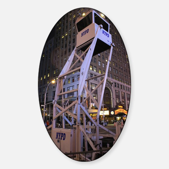 Police observation tower in New Yor Sticker (Oval)