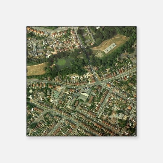 "Suburban housing Square Sticker 3"" x 3"""
