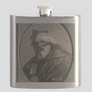 Plutus, Greek god of wealth Flask