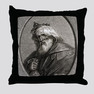 Plutus, Greek god of wealth Throw Pillow