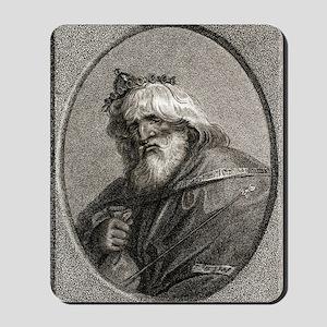 Plutus, Greek god of wealth Mousepad