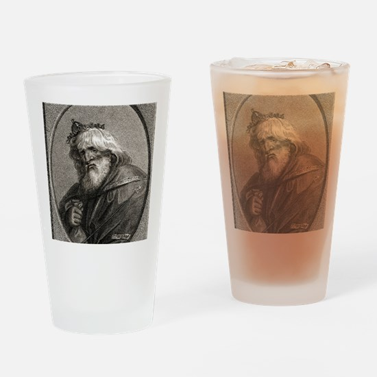 Plutus, Greek god of wealth Drinking Glass
