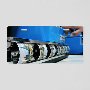 Plastic smart card testing Aluminum License Plate