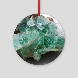 Green apophyllite Round Ornament