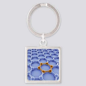 Graphene sheet Square Keychain