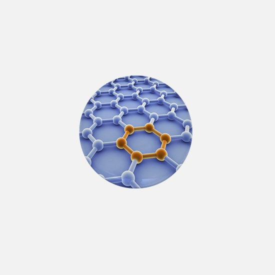 Graphene sheet Mini Button