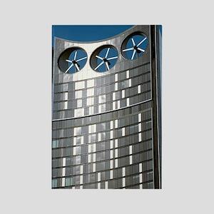 Strata skyscraper Rectangle Magnet