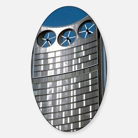 Strata skyscraper Sticker (Oval)