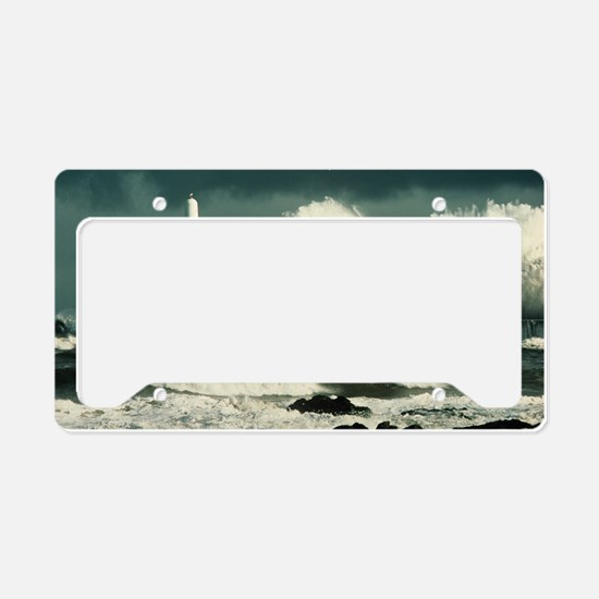 Storm waves License Plate Holder
