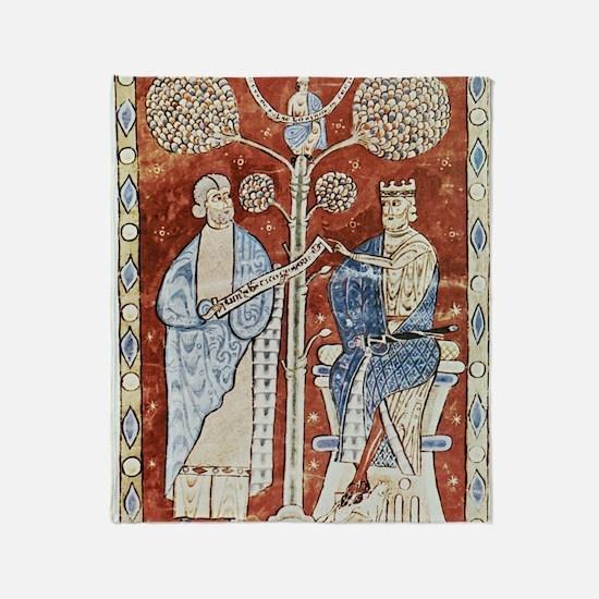 Pliny the Elder and the Emperor Titu Throw Blanket