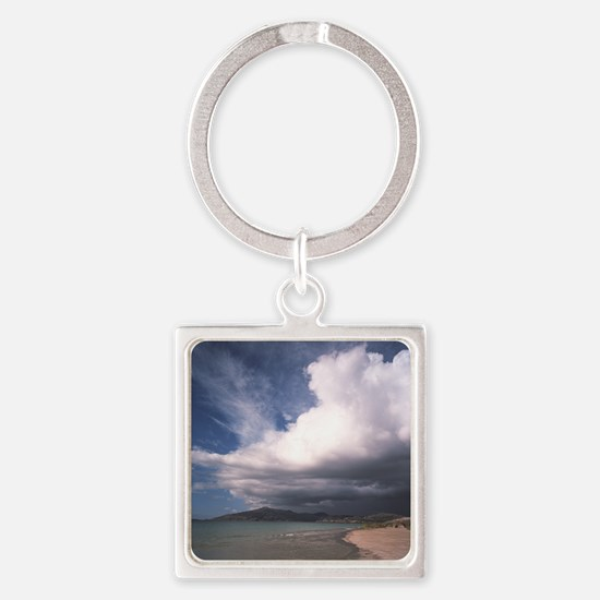 Storm clouds Square Keychain