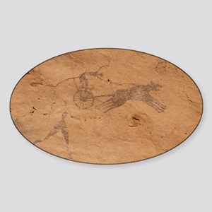 Pictograph of Horsedrawn Chariot, L Sticker (Oval)