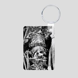 Stone Age skeletons and ma Aluminum Photo Keychain