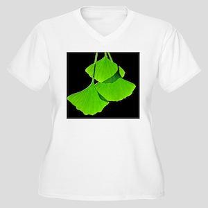 Ginkgo leaves, co Women's Plus Size V-Neck T-Shirt