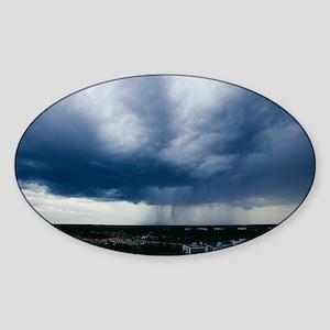 Storm cloud Sticker (Oval)
